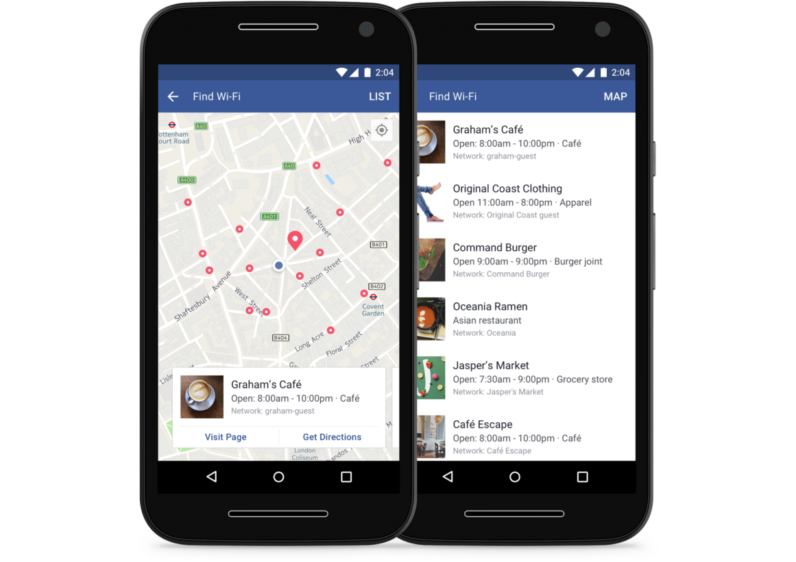 Facebook's 'Find Wi-Fi' tool is now available to everyone